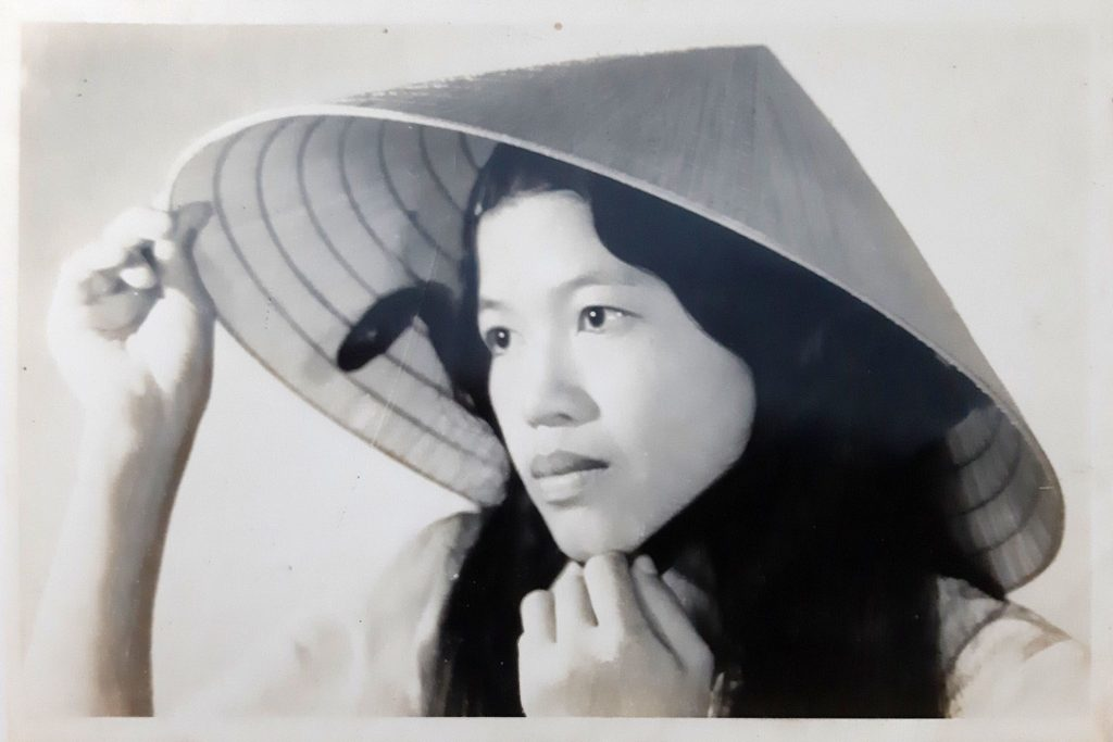 Nguyen Thi Thanh, pictured at 16, five years after the massacre